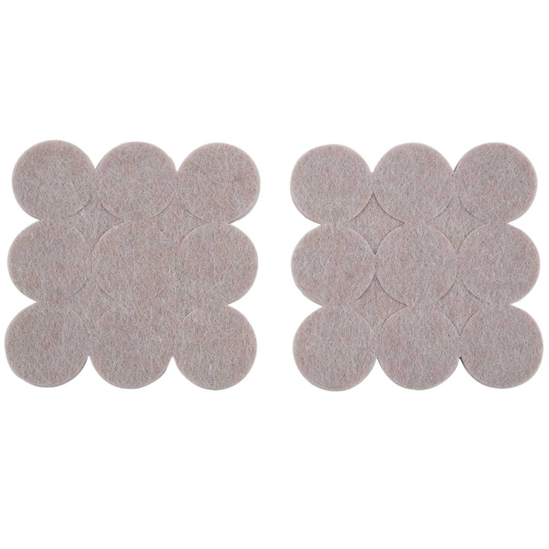 Self Adhesive Furniture Protector Felt Pad Cushion Dia 18pcs