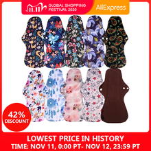 [Simfamil] 10 Uds. De toallitas sanitarias de bambú orgánico, toallitas higiénicas lavables para la menstruación, toallitas reutilizables de tela para mujer