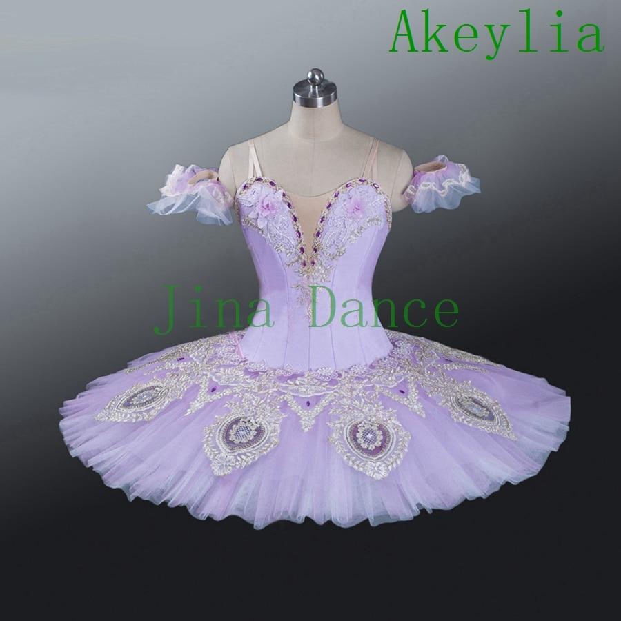 Lilac Ballet Tutu Sleeping Beauty Variation Professional Ballet Competiton Ballet Tutu Dress for girls Nutcracker tutu