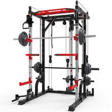 Rack di allenamento multifunzionale per uso domestico attrezzature per il Fitness per allenamento completo Smith Machine Squat Rack