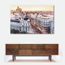 Madrid Canvas Print Skyline Wall Art Photo Gift Decor Spain poster