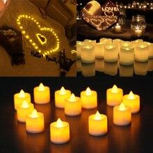 1 шт. Креативный светодиодный светильник-свеча, многоцветная Лампа, имитирующая цвет пламени, чайный светильник, украшение для дома, свадьбы, дня рождения, вечеринки, Прямая поставка, BTZ1