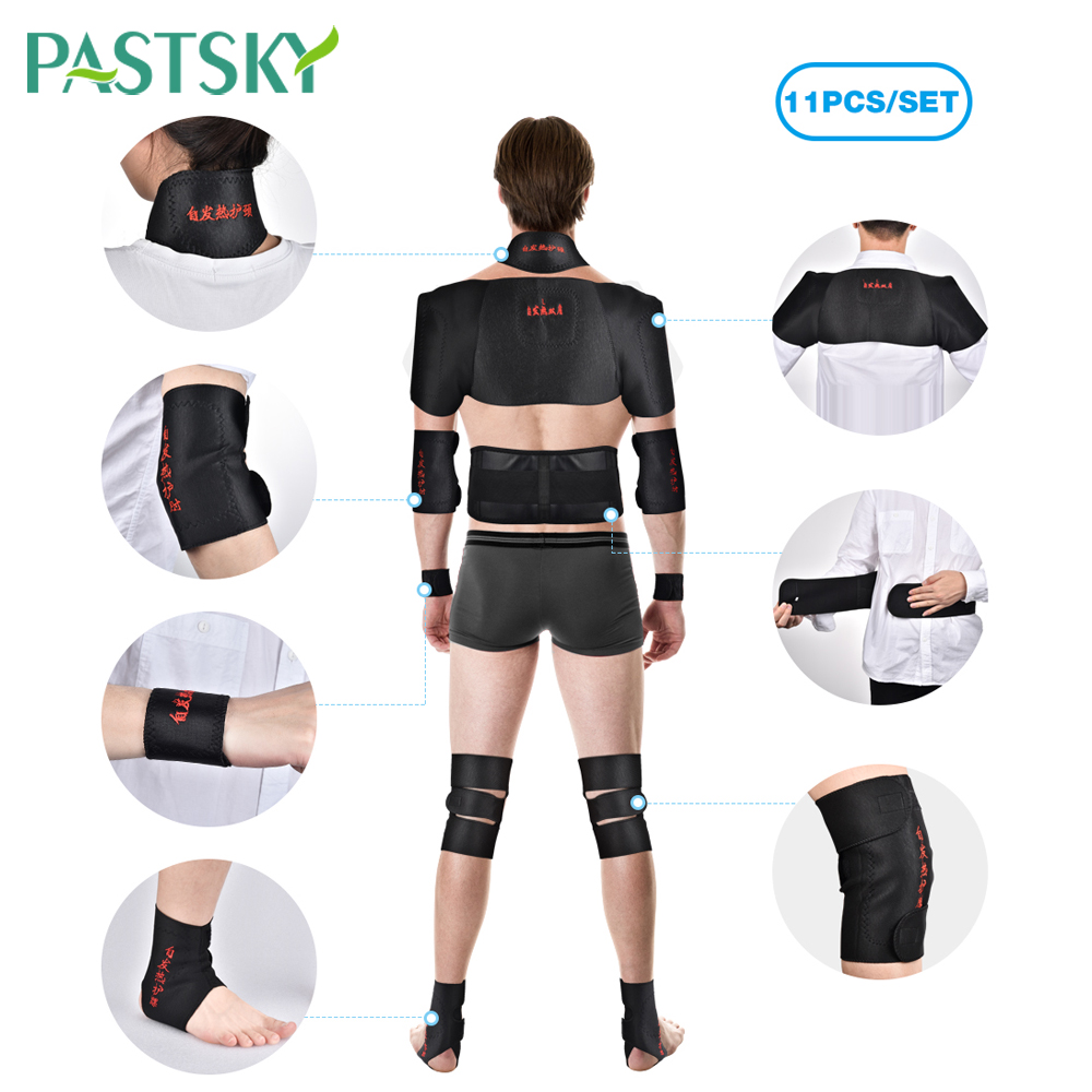 11Pcs Magnetic Tourmaline Belt Support Brace Set Knee joint Self-heating Therapy Arm Back Neck Lumbar Shoulder Posture Correcter