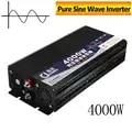 4000W Peak DC 12V NAAR AC 220V Zuivere Sinus Omvormer Dual Display Thuis Converter Charger voeding Transformator Adapter