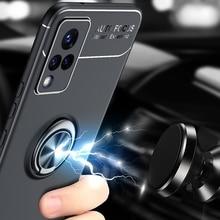 Car Magnetic magnet Case For vivo S9 Ring Holder Finger Grip Soft TPU Cover