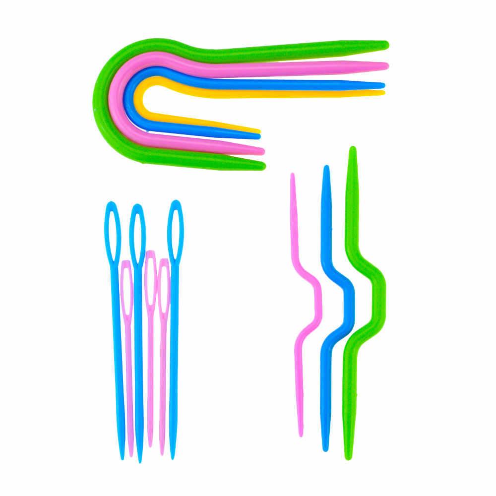 1 Set 53 Pcs Haakt Breien Kit Willekeurige Kleur Naald Clip Plastic Knit Stitch Craft Markers Kruissteek Hulpmiddel Naaien gereedschap