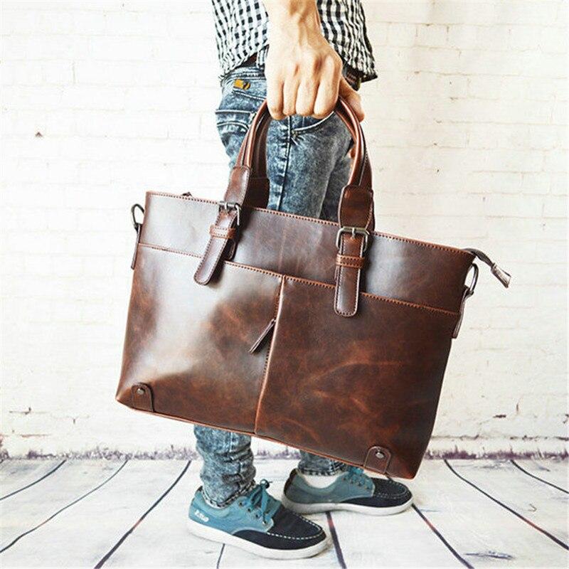 2019 Business Shoulder Bags Quality Men's Messenger Bag Male Laptop Bag Travel Bag Leather Men Briefcase Brand Luxury High