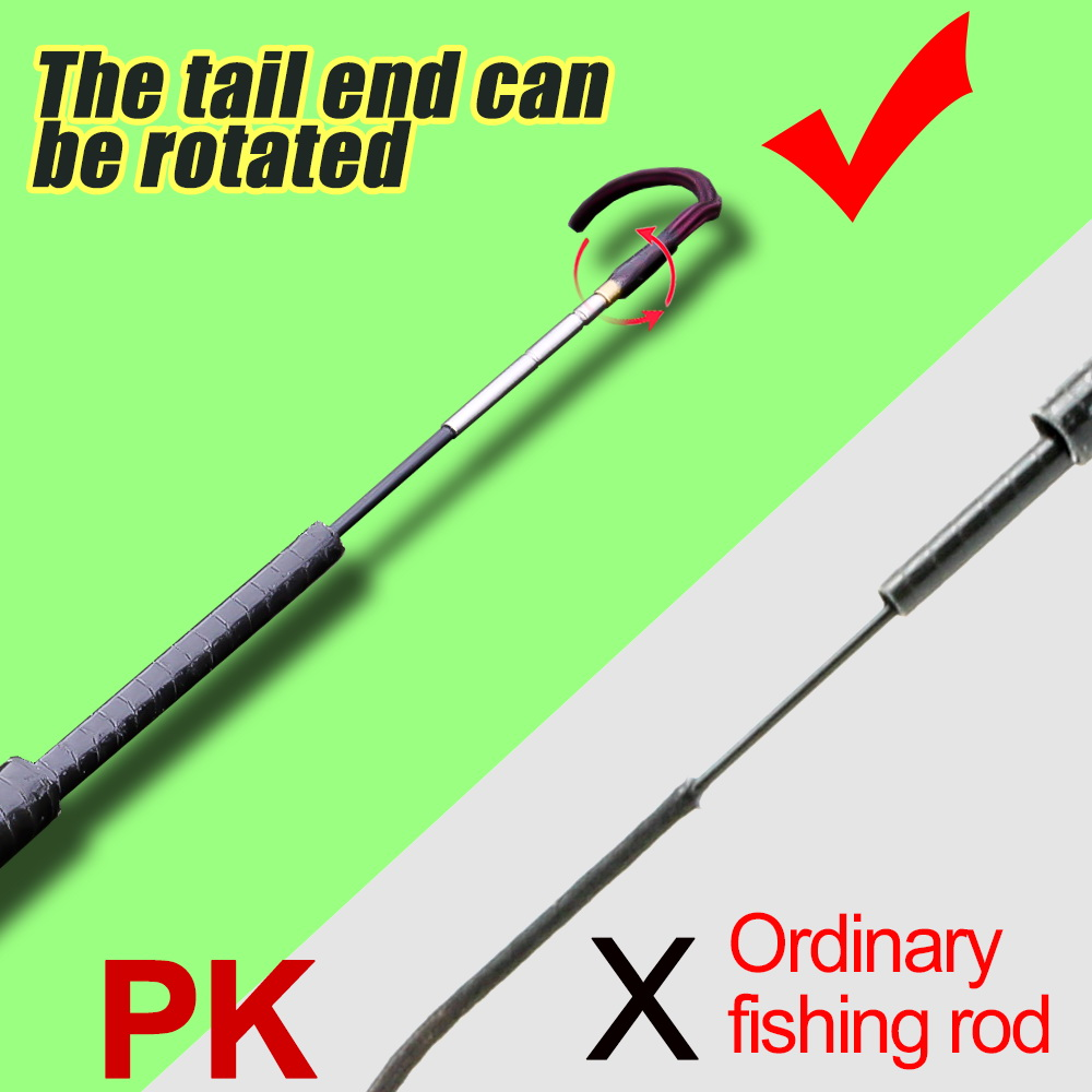 Ultralight and Super Hard Telescopic Fishing Rods with Braided Handle and Rotatable Handle 4