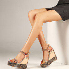 2019 Summer Women Platform Wedge Sandals Ankle Strap Espadrilles Dress Sexy High Heels Casual Shoes 13CM