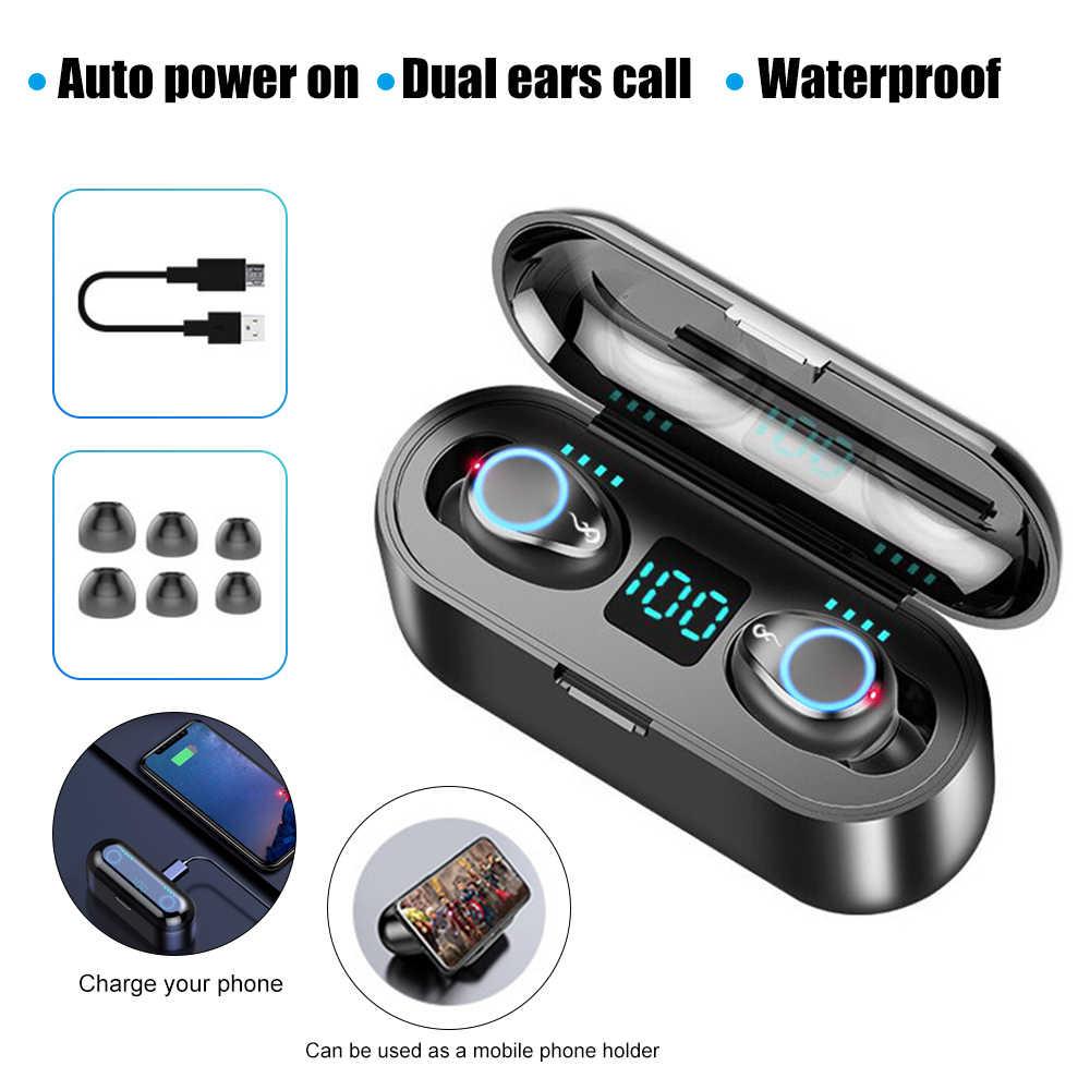 אלחוטי אוזניות Bluetooth אוזניות 5.0 Stero קול אוזן טלפונים אמיתי אוזניות רעש ביטול אוזניות mi לשיאו mi iphone 7 8