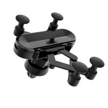 4-6 дюймов Автомобильный держатель для телефона в Автомобиле вентиляционное отверстие подставка держатель для мобильного телефона универсальный гравитационный держатель для смартфона для автомобиля
