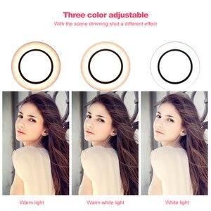 Image 4 - Fotografia anel luz mini led selfie luz estúdio fotografia foto luzes preencher luz 160/260mm com 10 níveis de brilho