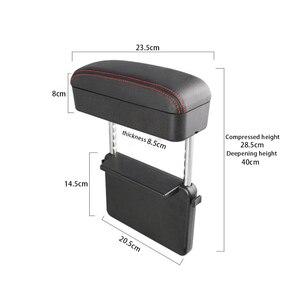 Image 3 - Car Center Console bracciolo Car Styling sedile Auto Gap Organizer scatola bracciolo scatola bracciolo universale per Auto supporto gomito regolabile