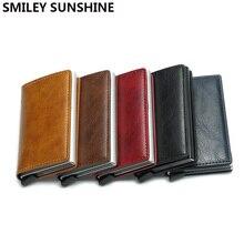 Rfid Card Holder Wallets for Men Money Bag Male Short Leather
