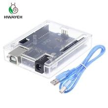 Высокое качество один набор UNO R3(CH340G) MEGA328P для Arduino UNO R3+ USB кабель ATMEGA328P-AU макетная плата