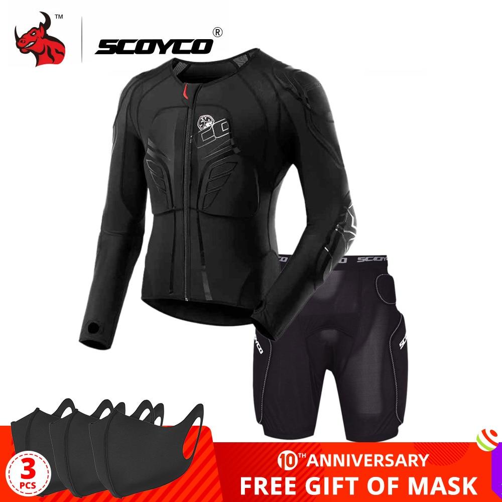 Мотоциклетная куртка SCOYCO, защитная Экипировка для мотокросса, мотоциклетная броня, черная мотоциклетная Броня