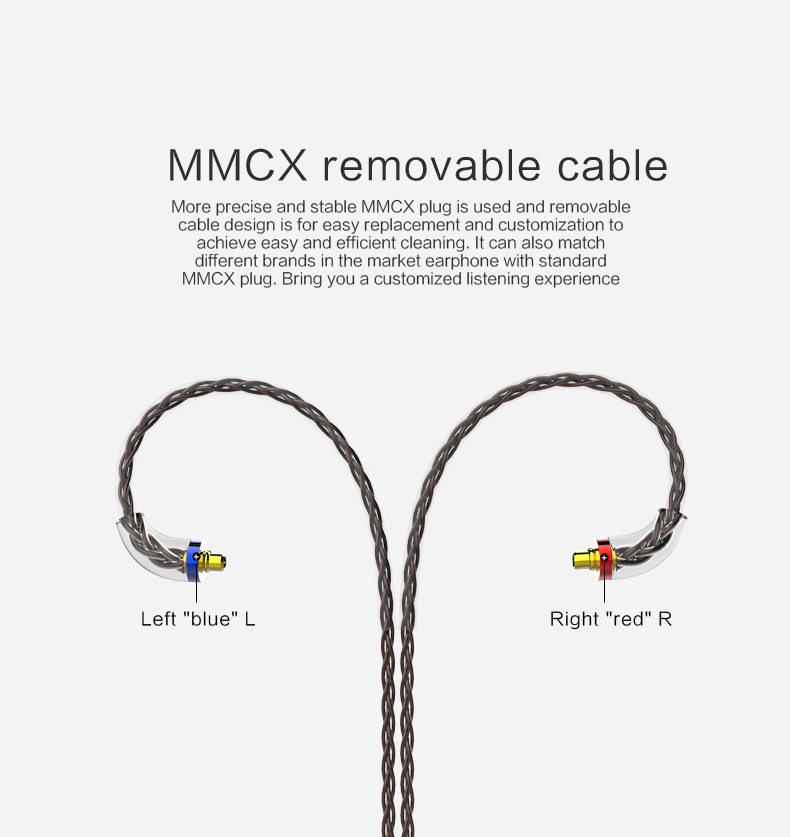 Audiosense 8-conductor MMCX Litz Copper IEM Replacement Cable