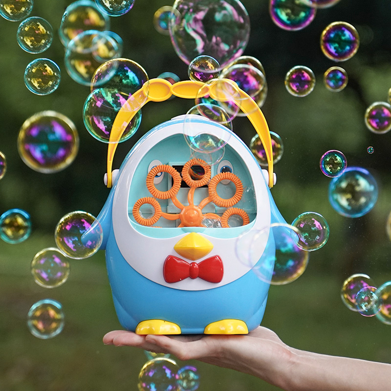 Penguin Fully Automatic Water Blowing Toys Bubble Soap Bubble Blower Outdoor Kids Toys Parent-child Exchange Interactive Toys