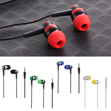 Fashion Popular Wired Earphone Brand New Stereo In-Ear 3.5Mm Nylon Weave Cable E
