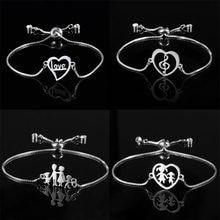Bracelet à breloques papillon creux en acier inoxydable, couleur or Slver, amour infini