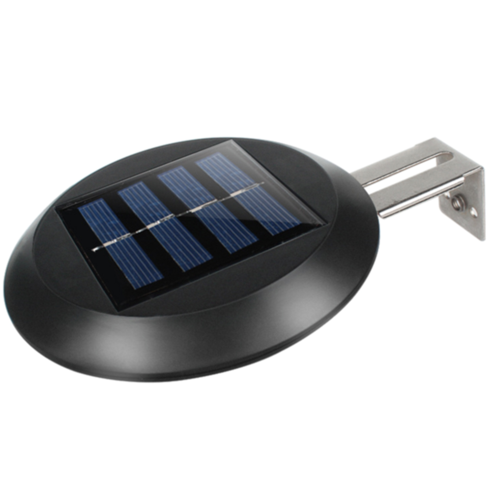 9 LEDs Sink Round Solar Powered Wall Mount Night Garden Pathway Yard Waterproof Home Outdoor Grille Light Gutter Fence