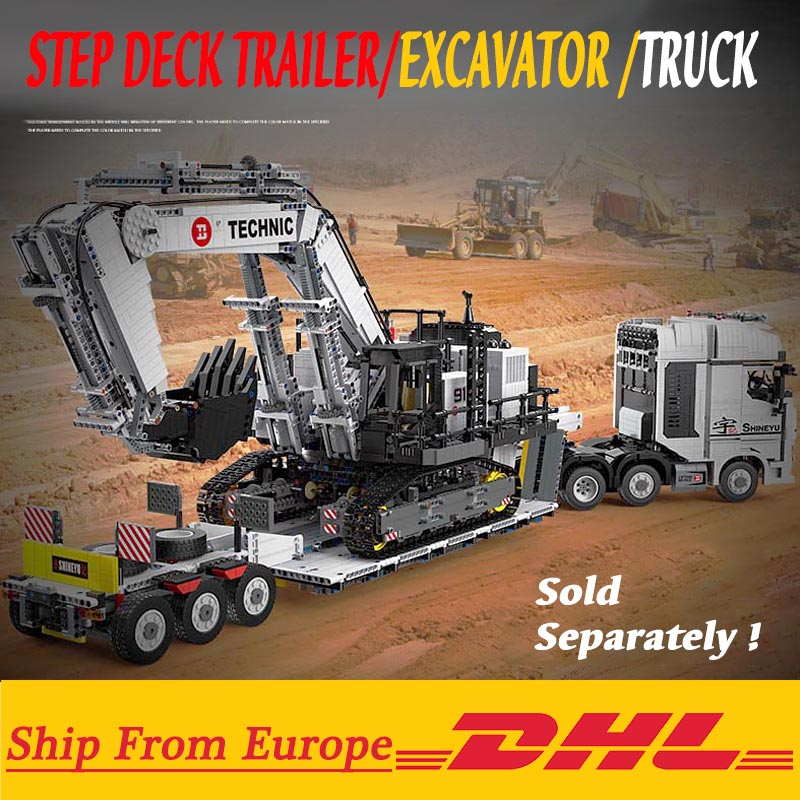 High-Tech Excavator Car Engineering RC Motor Machnical Digger Model Kit Building Blocks Bricks Gifts Toys Compatible with 42100