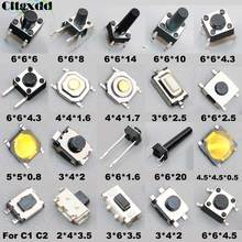 Cltgxdd 20models Micro Switch Push Button Tact Switches Reset Mini Leaf Switch SMD DIP 2*4 / 3*4 / 3*6 / 4*4 / 6*6 / 5*5 Diy Kit