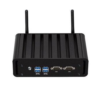 цена на Fanless Industrial Mini PC Intel Core i7-5500U i5-5200U 4GB DDR3L Windows Linux 2*RS232 2*Gigabit Ethernet 4*USB WiFi Bluetooth