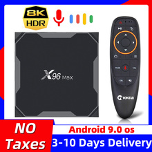 TV Box X96 Max plus, Android 2020, reproductor multimedia inteligente 4K, con Amlogic S905X3, X96Max, 8K, wi fi 9,0 GHz/5 GHz, 4GB, 64 GB, 32GB, 2,4