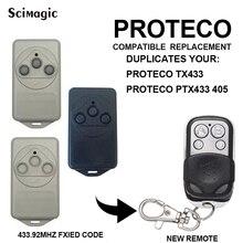 Transmisor de control remoto para puerta de garaje, abridor de puerta de garaje, para PROTECO TX433 PTX433 405 PTX433, AZUL, 433,92 MHz