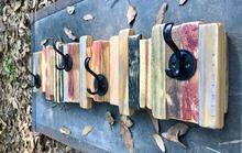 Rustic Coat Rack Entryway Organizer Wall Mount Coat Hanger Rack, Wooden Coat Rack Hook, Rustic Farmhouse Decor
