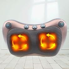 Electric Neck Massager Massage Relaxation Pillow Multifunctional Shiatsu Shoulder Infrared Heating Relief Pain Massage Pillow