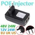 48V 24W POE Injector for IP Camera CCTV Security Surveillance PoE Power Supply Ethernet Adapter Phone US EU UK Plug