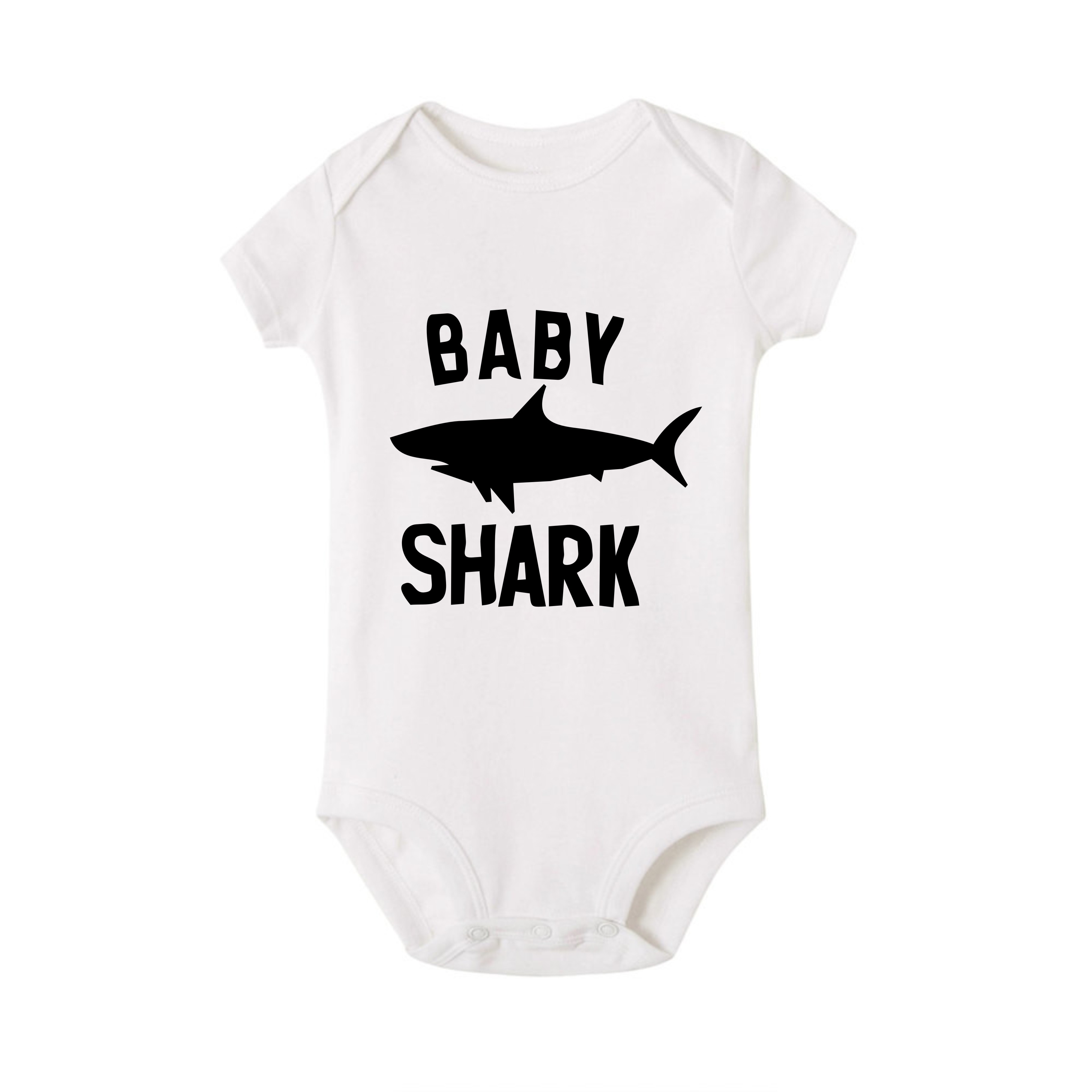 Summer Shark Family Matching Clothes T Shirt Mother Son Dad Girl T Shirts Kids Baby Girl Boys Romper T Shirt Outfits QT-1934 3