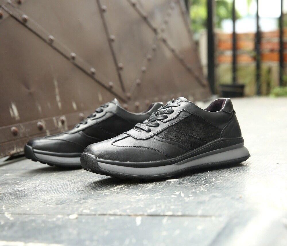 ECCO Men Casual Shoes Golf Shoes Men Elastic Band Walking Men Leather Shoes 133004 38—44