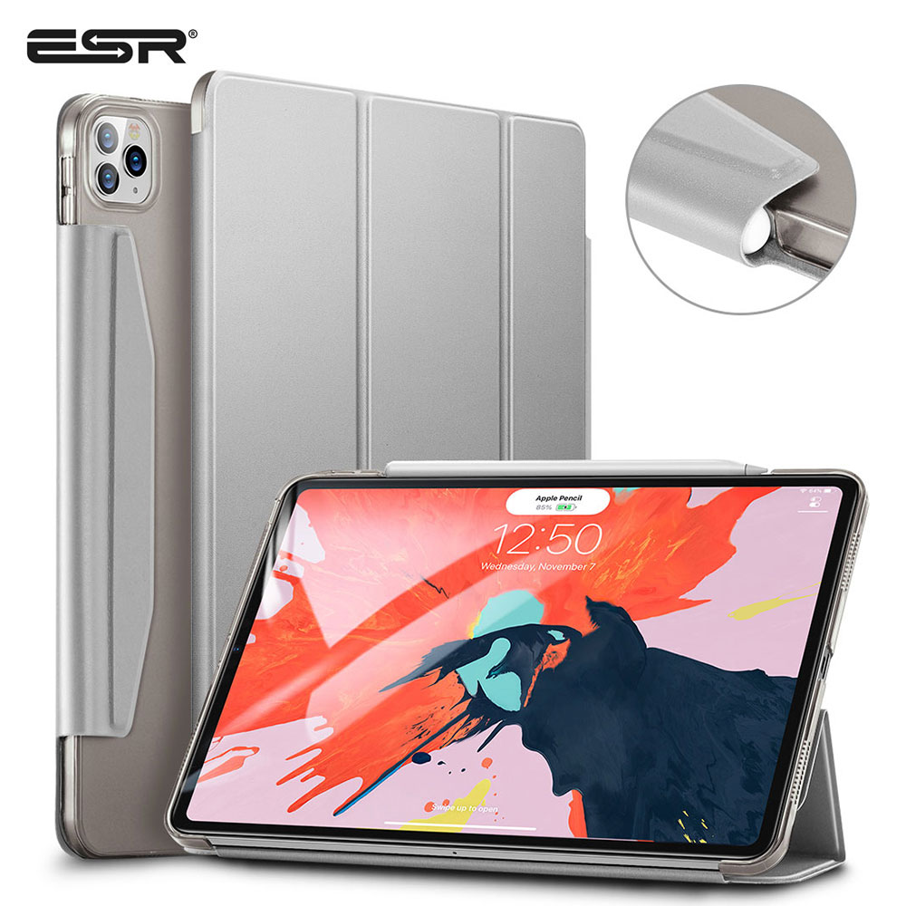 ESR Case For IPad Pro 11'' 12.9' Inch 2020 Shock-Resistant Back Cover Magnetic Closure With Pencil Holder For 2nd/4th Generation