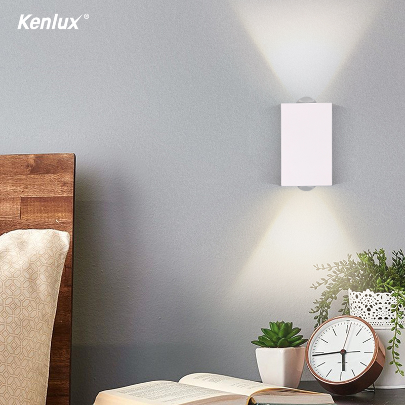 Kenlux 6W Led Indoor Lighting LED Wall Lamp Aluminum Wall Light Surface Mounted Cube LED Light For Home Stairs Beside Bedroom