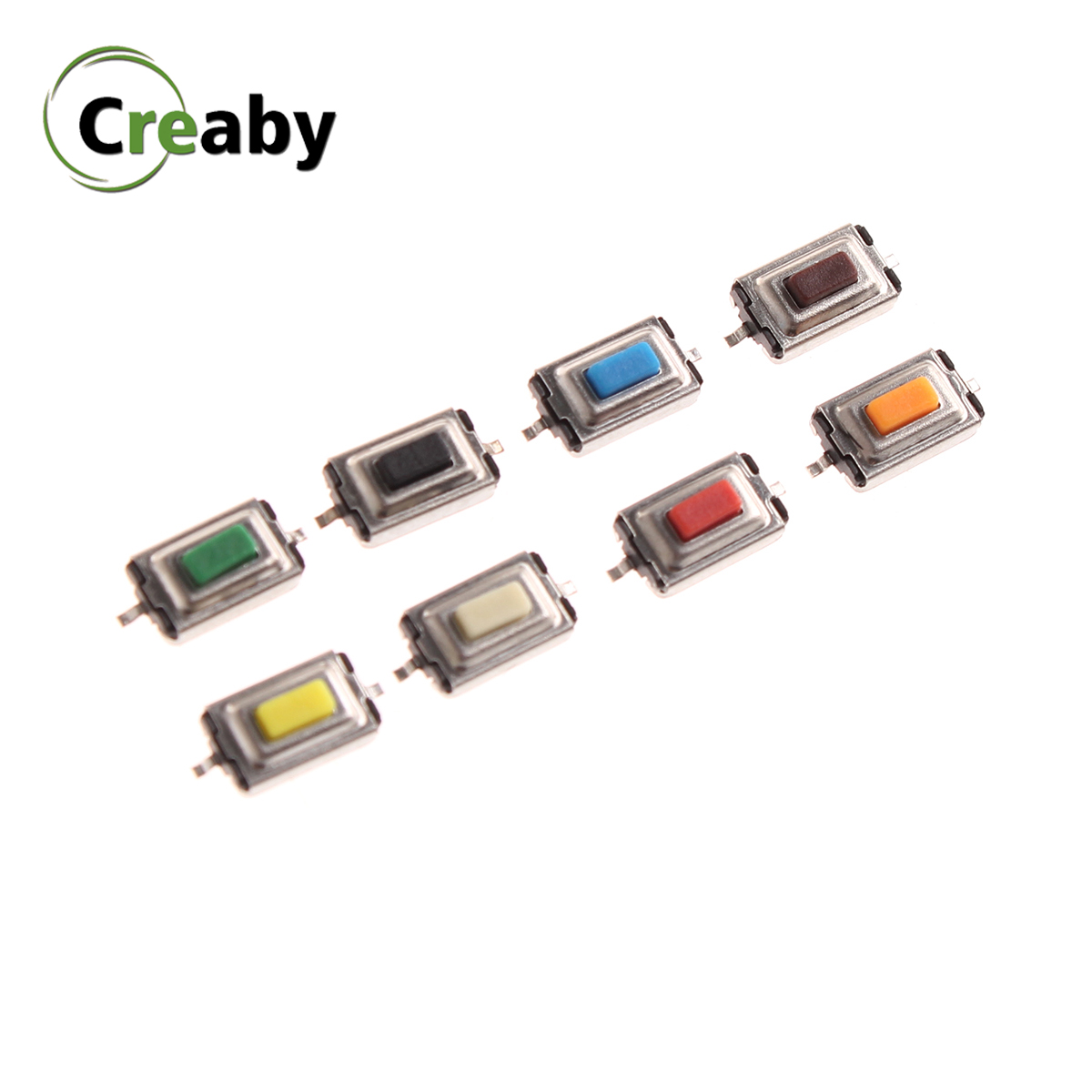 10PCS 3*6*2.5mm Microswitch 3x6x2.5mm SMD 2Pin Tactile Push Button Switch Tact Touch Micro Switch White Red Black Green Blue