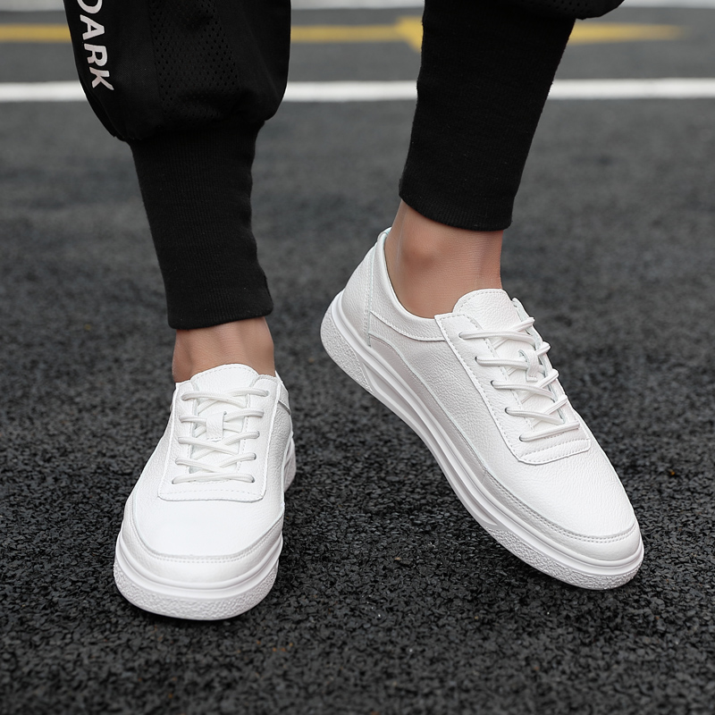 Fashion Mens Shoes Non-Slip Sneakers Man Casual Leather Shoes Vintage Comfortable White Shoes Spring Autumn Travel Summer Shoes