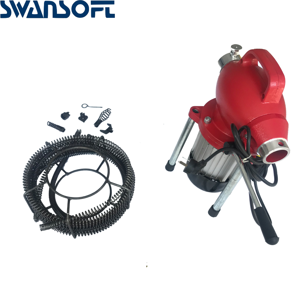 220V Professional Pipe Cleaner Drain Cleaning Machine Sewage Cleaner Electric Snake Sewer