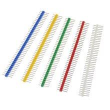 10 Uds 3A Pin conector macho 2,54mm tira de conectores de pines sola fila 40 Kit de conectores de pines para la placa PCB 40Pin 1x40P frágil