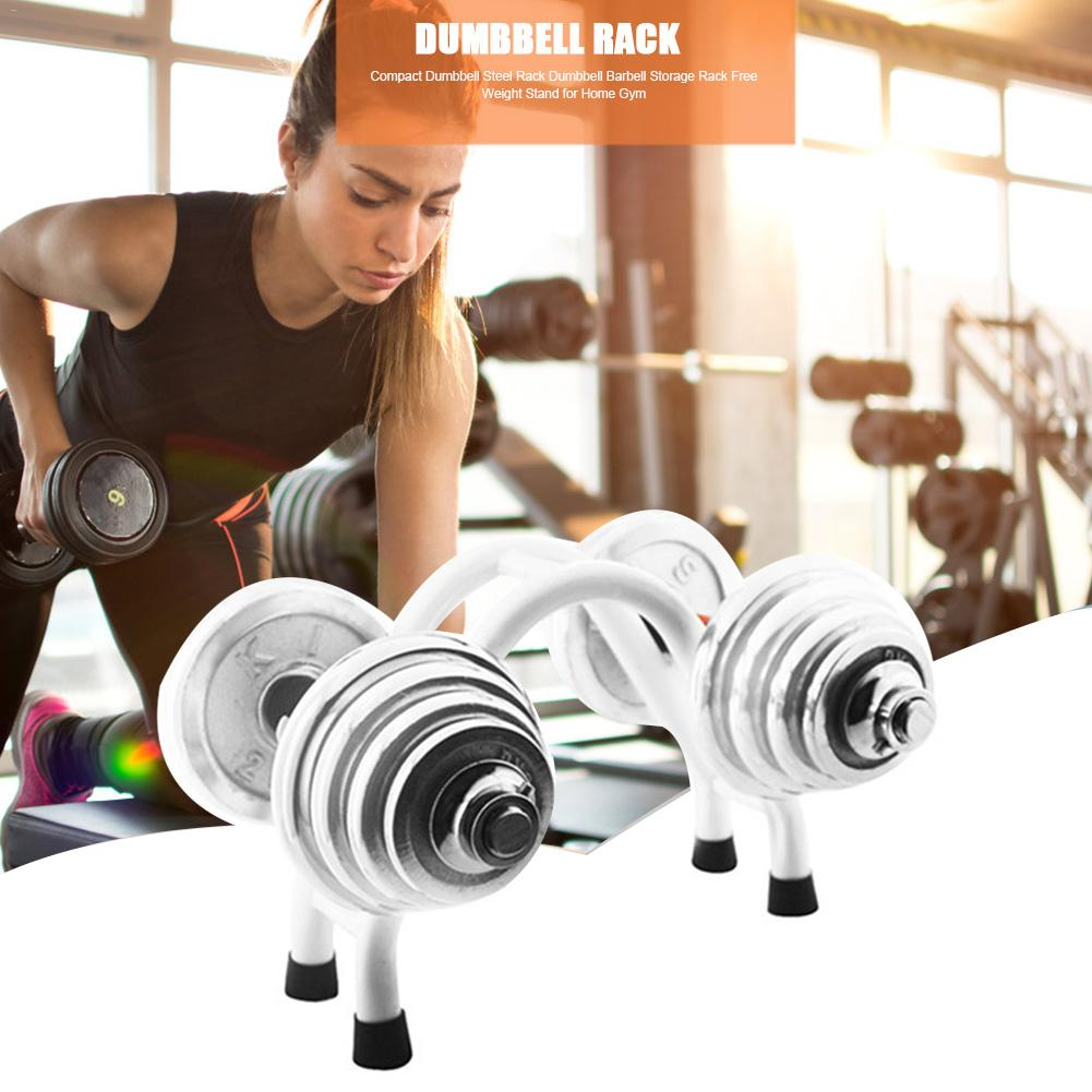 1pc Steel Dumbbells Rack Iron Dumbbells Stands Holder Weightlifting Set Fitness Equipment Floor Equipment Accessory Barbell