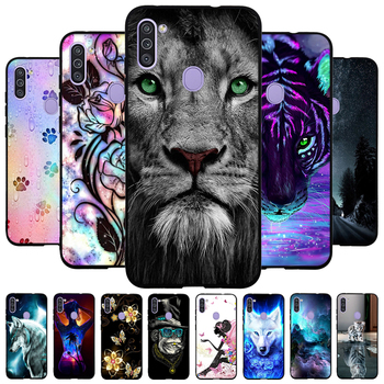 цена на Phone Cases for Samsung Galaxy M11 M31 Case Soft Silicone Black Back Cover for Samsung Galaxy A11 EUR Protective