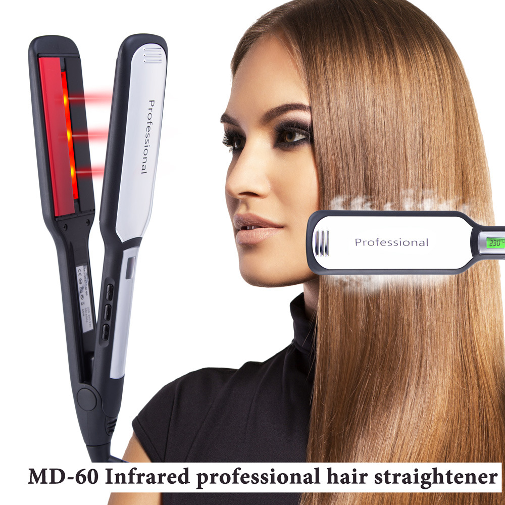 Negative Ion Hair Straightener Curler Infrared Hair Flat Iron LCD MCH Heating Fast Roll Straight Hair Splint Pro Styling Tools