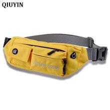 QIUYIN Nylon Waist Bag men Pack Funny Belt Men Chain For Phone Pouch Bolso