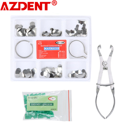 Full Kit Dental Matrix Sectional Contoured Matrices + 40 Pcs Silicone Add-On Wedges + Dental Pliers