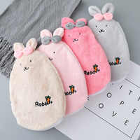 Cute Pain Relief Therapy Hot Water Bottle Bag with Knitted Soft Cozy Cover Winter Warm Heat Reusable Hand Warmer C1824 g