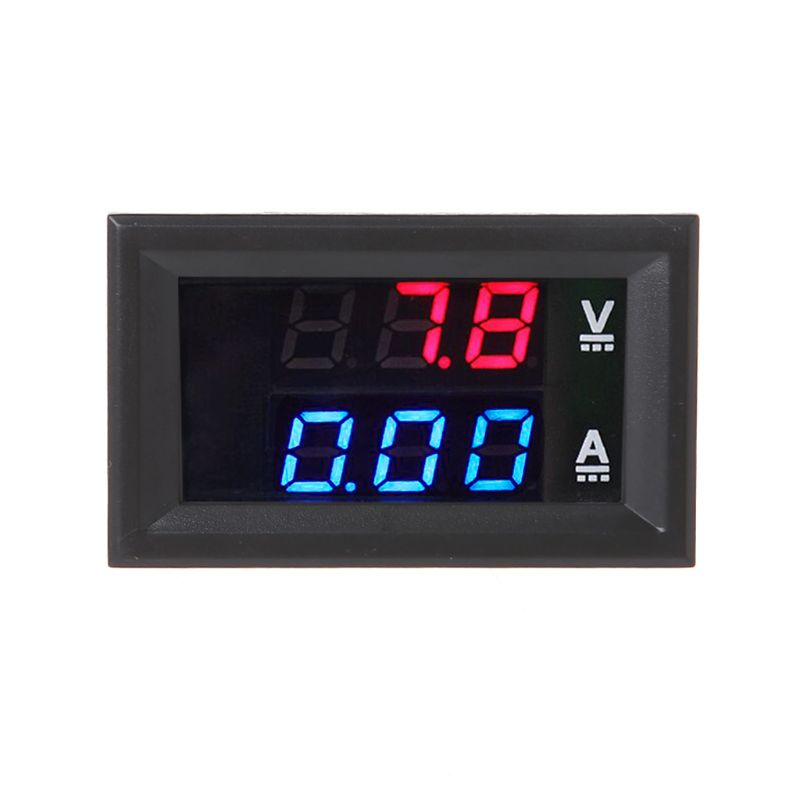 1PC <font><b>DC</b></font> 0-<font><b>100V</b></font>/<font><b>50A</b></font> Red Blue Digital <font><b>Voltmeter</b></font> <font><b>Ammeter</b></font> LED Dual Display Voltage Current Indicator Monitor Detector image