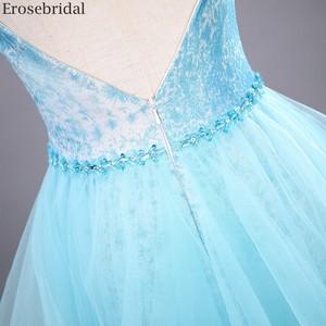 Image 5 - Erosebridal スカイブルーのロングドレス 2020 新ファッションティアードロングフォーマルドレスイブニングパーティーオープンバック v ネック