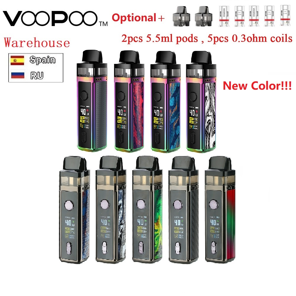 Original VOOPOO VINCI Pod Kit 1500mah Battery &VOOPOO VINCI Replacement Pod Cartridge 5.5ml Capacity Vapor Voopoo Mod Pod Kit